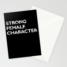 Strong Female Character Stationery Cards