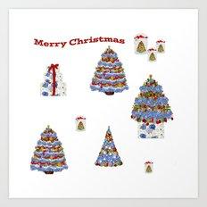 Merry Christmas on Cape Cod Art Print