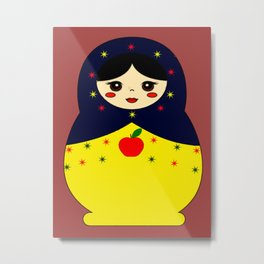 Snow White Nesting Doll Metal Print