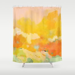 abstract spring sun Shower Curtain