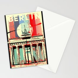 Berlin art Brandenburg Gate Stationery Cards