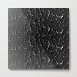 Texture black Metal Print