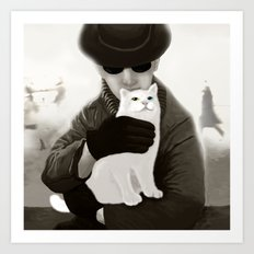 Cat and Alien Art Print