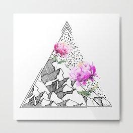 Peony Mountain Metal Print