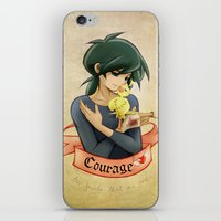 courage iPhone & iPod Skins featuring Courage by Achiru
