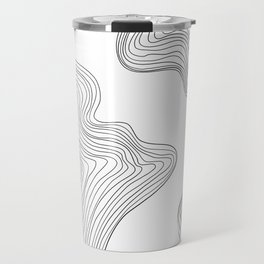 Linear abstraction #3 Travel Mug