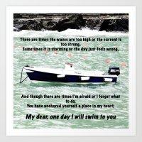I Will Swim To You Art Print