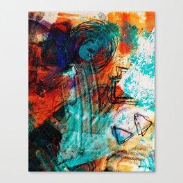 Raining Turquoise Canvas Print