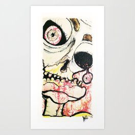 Zombie look Art Print