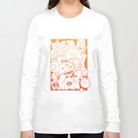 it crowd Long Sleeve T-shirts featuring Monster crowd by dreadpen
