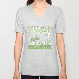 WEEKEND FORECAST TENNIS Unisex V-Neck