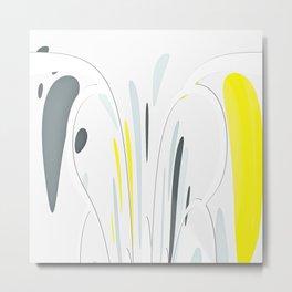 Yellow and gray Metal Print