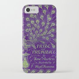 Pride and Prejudice, 1894 Peacock Cover in Purple iPhone Case