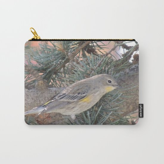 Audubon's Warbler on a Spruce Branch Carry-All Pouch
