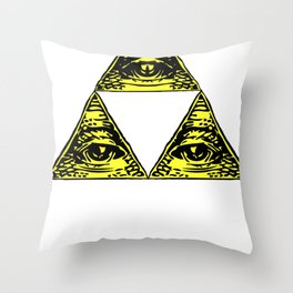 all seeing triforce Throw Pillow