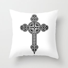 Celtic cross Throw Pillow