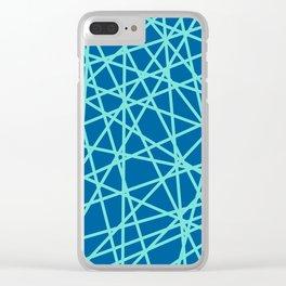 Lazer Dance Blue Clear iPhone Case