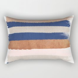 Stripes abstract minimalist painting bronze copper gold metallic stripe pattern decor nursery Rectangular Pillow