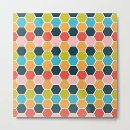 hexagon style 1 Metal Print