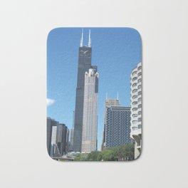 Chicago Historic Skyline Bath Mat