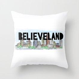 Believeland Cleveland Ohio Throw Pillow