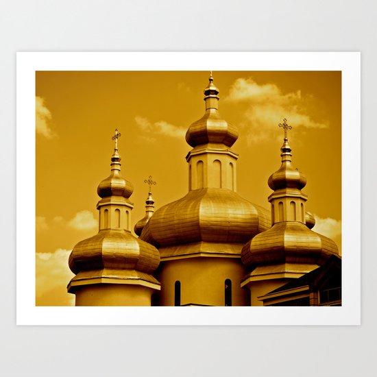 Gold Art Print
