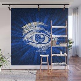 Shining Eye Retro Pattern Wall Mural