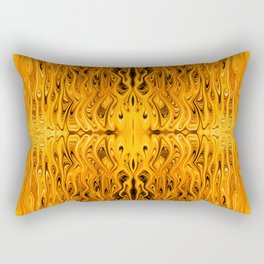 Flaming Squid by Chris Sparks Rectangular Pillow