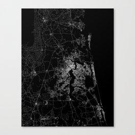 Jacksonville map Canvas Print