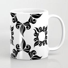 Decorative Black And White Pattern Coffee Mug