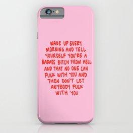Girl Boss Motto iPhone Case