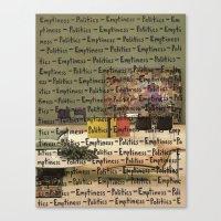 politics Canvas Prints featuring Politics Emptiness by Neil Campau
