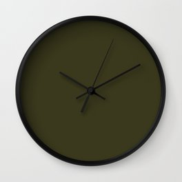 Garden Boot Green in an English Country Garden Wall Clock
