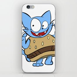 Hamburger Cat iPhone Skin
