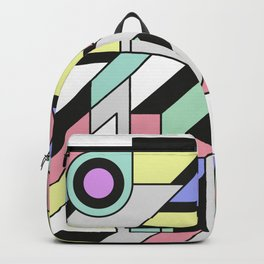 De Stijl Abstract Geometric Artwork Backpack