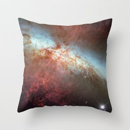 1363. Hubble Monitors Supernova In Nearby Galaxy M82 Throw Pillow