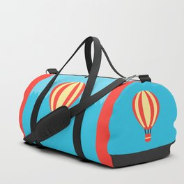 Classic Red and Yellow Hot Air Balloon Duffle Bag