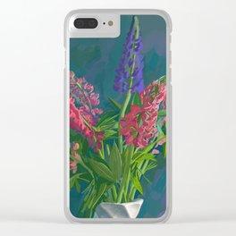 Dacha's Lupins Clear iPhone Case
