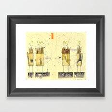 Domicile 01_Harvest Moon Framed Art Print
