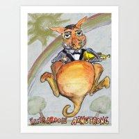 Kangarooie Armstrong Art Print