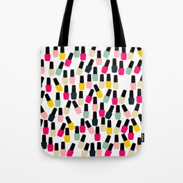 Cute Nail Polish Tote Bag