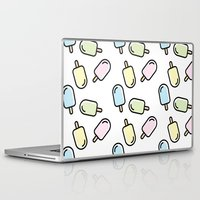 popsicle Laptop & iPad Skins featuring Popsicle by Ariadna Macías