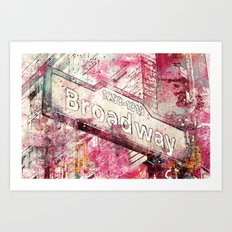 Broadway sign New York City Art Print