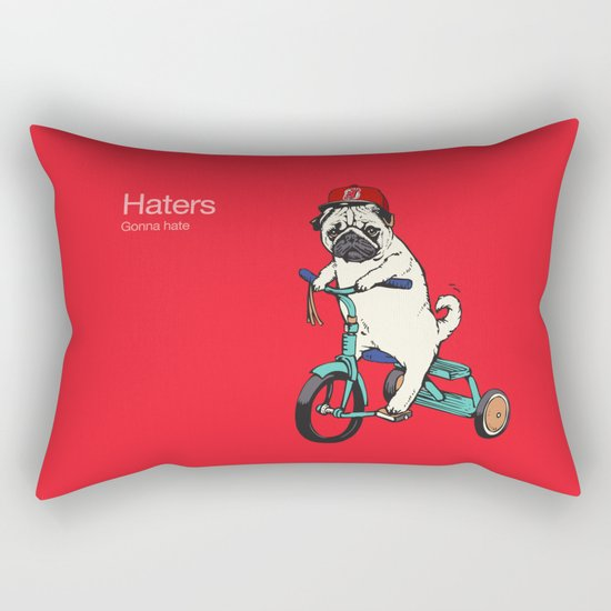 Haters gonna hate NJ Rectangular Pillow