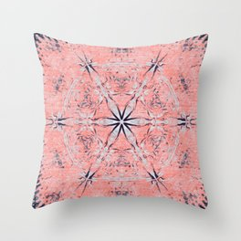 Pastel Pink Ethno Print Throw Pillow