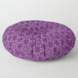 Hexagonal Circles - Elderberry Floor Pillow
