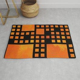 Visopolis V1 - orange flames Rug