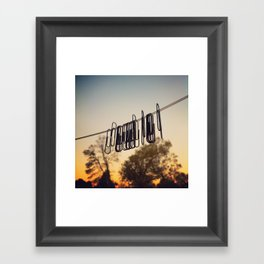 29 Attachments Framed Art Print