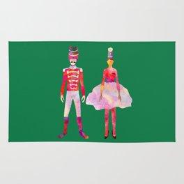 Nutcracker Ballet - Candy Cane Green Rug