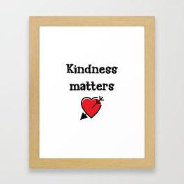 Kindness Teacher Gift Framed Art Print